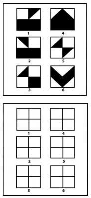 «Повтори рисунки». Тест для детей  3-4 лет